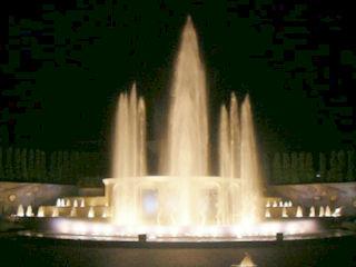 常磐公園・音と光の噴水
