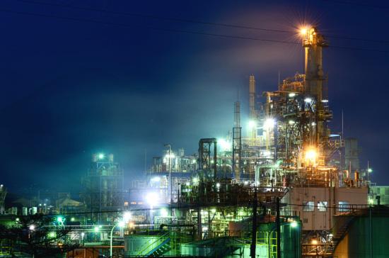 イハラニッケイ化学工業プラントの夜景2