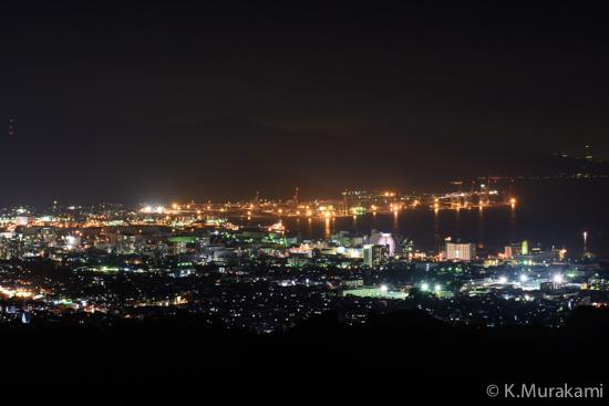 日本平旧道から望む清水市街と清水港の夜景