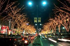 クリスマスの街並み