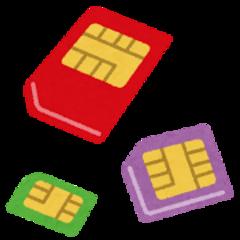 3種類のSIMカード