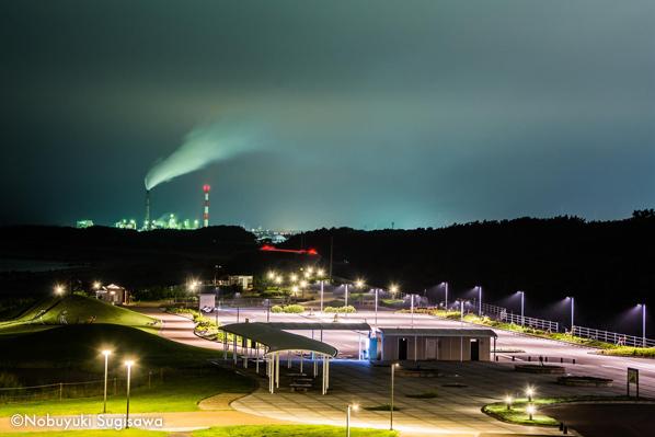 展望台から西の方向の夜景