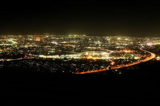 笛吹段公園<高草山>の夜景(焼津市)