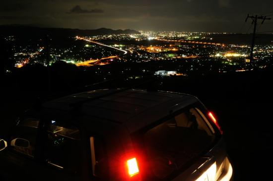 志戸呂の夜景(車内から)