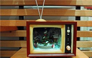 テレビとサンタ