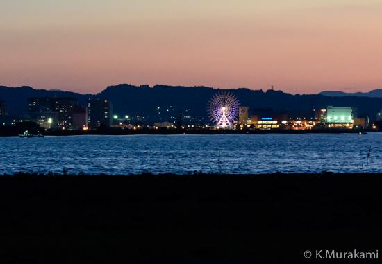 三保真崎の夜景(静岡市清水区)