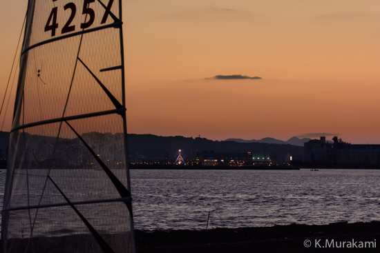 三保真崎から望む清水港沿岸