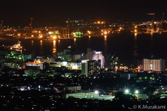 日本平旧道の夜景(静岡市清水区)