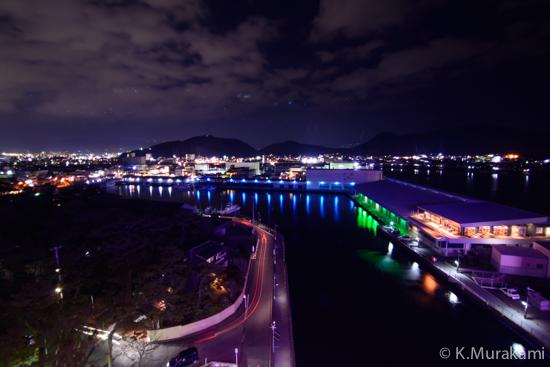 沼津港大型展望水門びゅうおの夜景