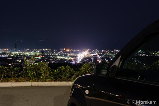 NEOPASA駿河湾沼津(下り)一般道側駐車場からの夜景